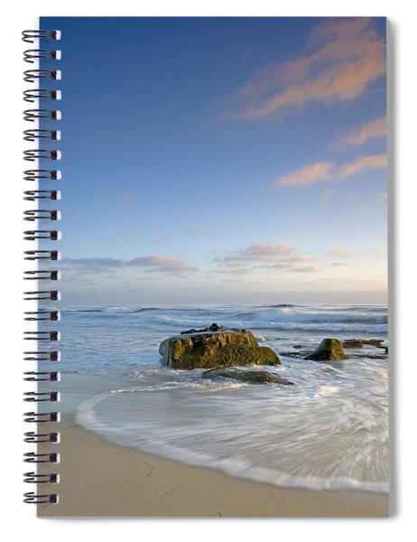 Soft Blue Skies Spiral Notebook