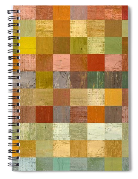 Soft Palette Rustic Wood Series Lll Spiral Notebook