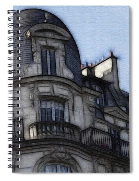 Softer Side Of Paris Architecture Spiral Notebook