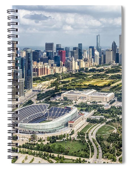 Soldier Field And Chicago Skyline Spiral Notebook