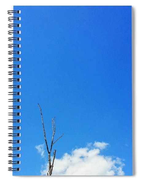 Solitude - Blue Sky Art By Sharon Cummings Spiral Notebook
