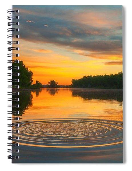 Solstice Ripples Spiral Notebook