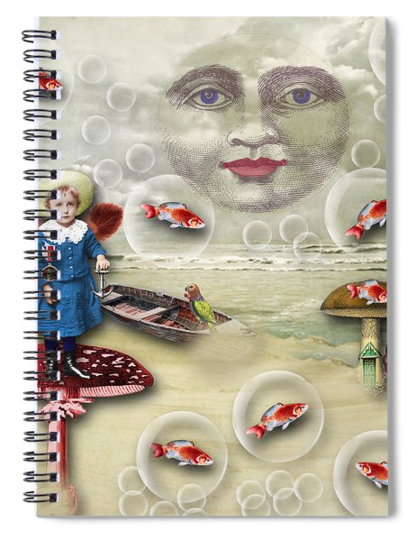 Something Fishy At The Shore Spiral Notebook