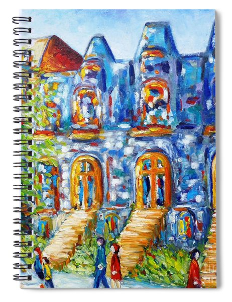Somewhere In Montreal - Cityscape Spiral Notebook