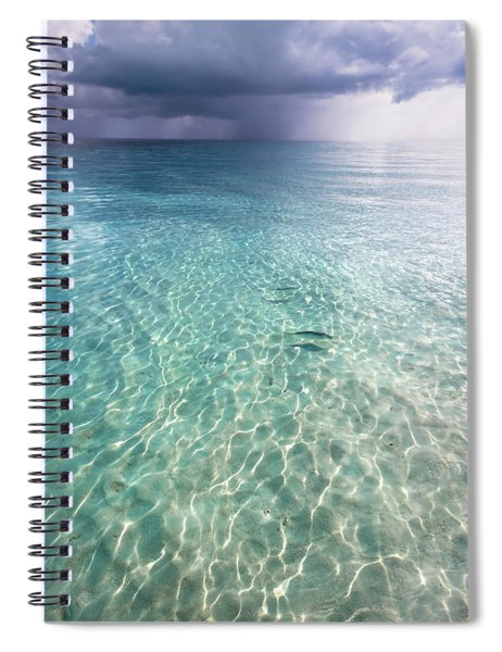 Somewhere Is Rainy. Maldives Spiral Notebook