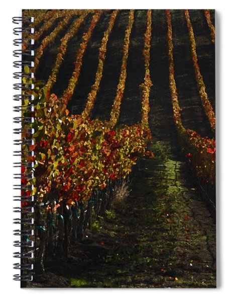 Sonoma Vineyard Rows Spiral Notebook