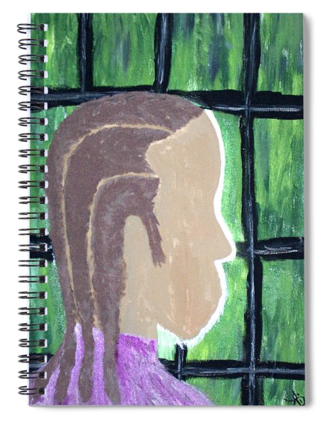 Abstract Man Art Painting  Spiral Notebook