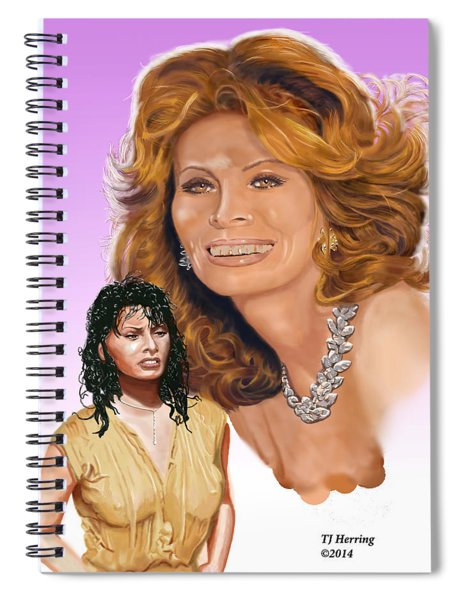 Sophia Loren Spiral Notebook