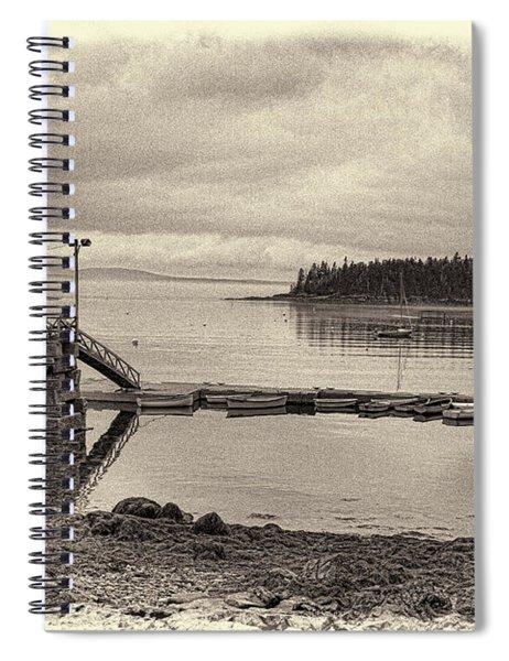 Sorrento Harbor Boats 4 Spiral Notebook