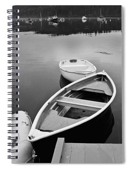 Sorrento Harbor Boats Spiral Notebook