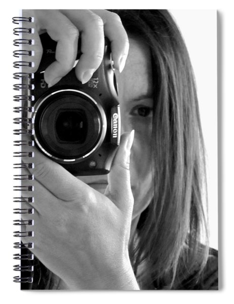 Soul-searching - Self-portrait Spiral Notebook