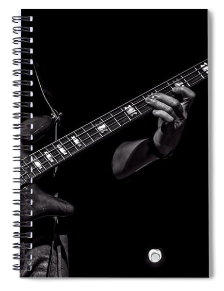 Sounds In The Night Bass Man Spiral Notebook