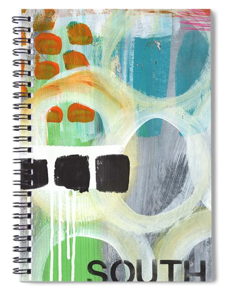 South- Abstract Expressionist Art Spiral Notebook
