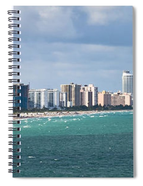 Spiral Notebook featuring the photograph South Beach On A Summer Day by Ed Gleichman