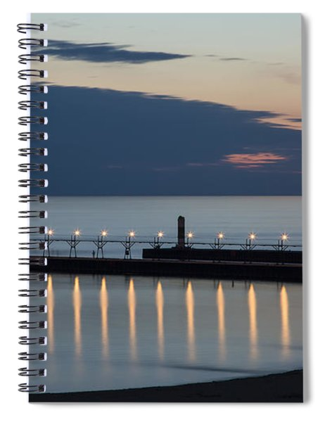South Haven Michigan Lighthouse Spiral Notebook