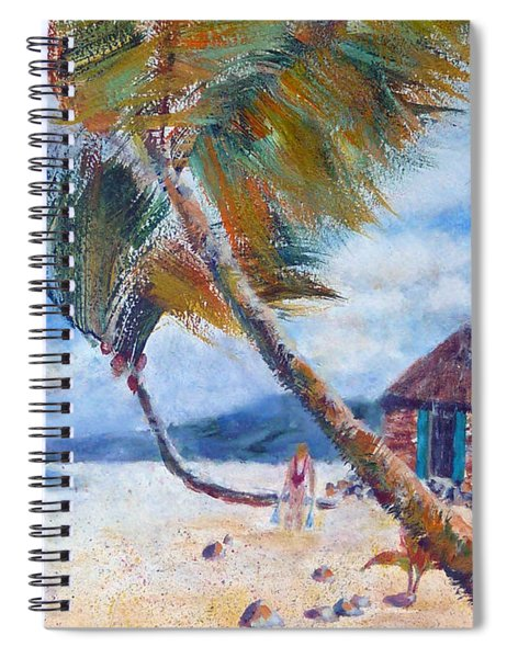 South Pacific Hut Spiral Notebook