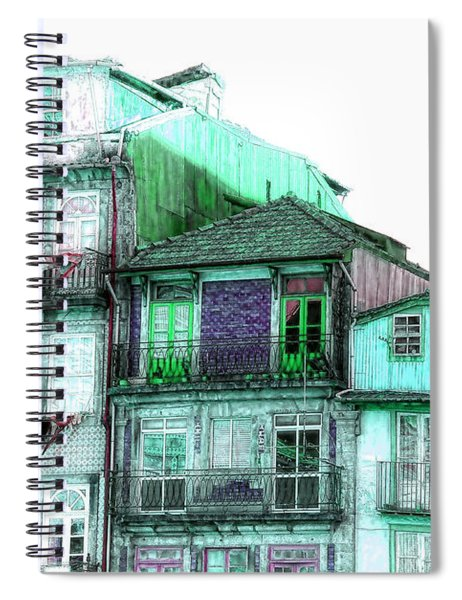 South Side Of Town-featured In Old Buildings And Ruins Group Spiral Notebook
