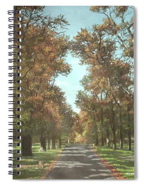 Spiral Notebook featuring the painting Southampton Palmerston Park by Martin Davey