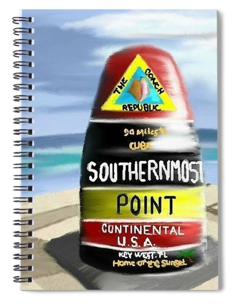 Southernmost Point Spiral Notebook
