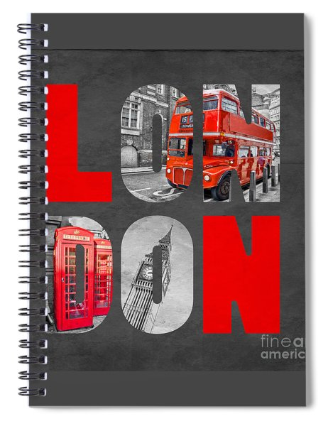Souvenir Of London Spiral Notebook