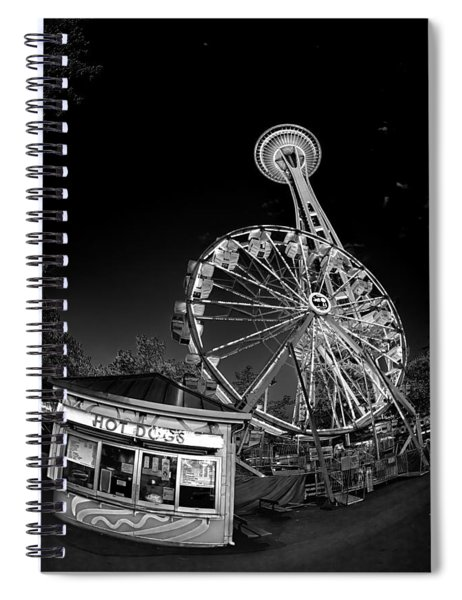 Space Needle Fights The End Of The World Spiral Notebook