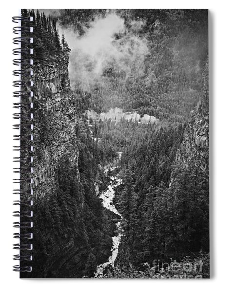 Spahats Creek Canyon In Wells Gray Provincial Park Spiral Notebook