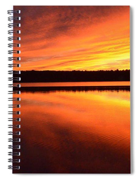 Spectacular Orange Mirror Spiral Notebook