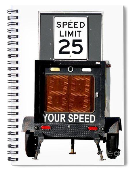 Speed Limit Monitor Spiral Notebook