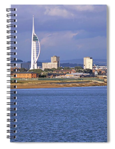 Spinnaker Tower And Gunwharf Quays Spiral Notebook