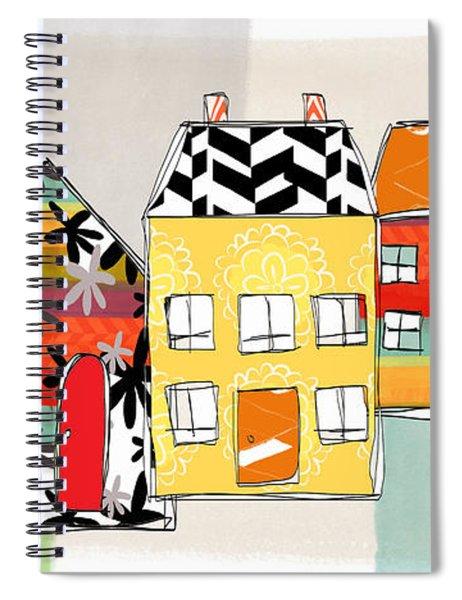 Spirit House Row Spiral Notebook