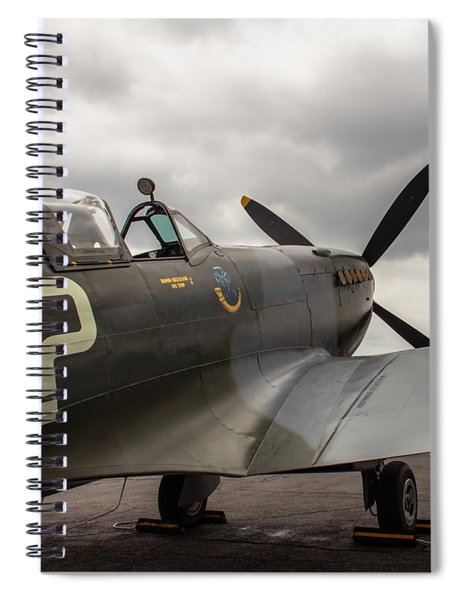 Spitfire On Display Spiral Notebook
