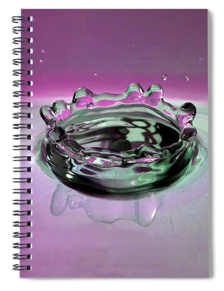 Splash Of Purple Spiral Notebook