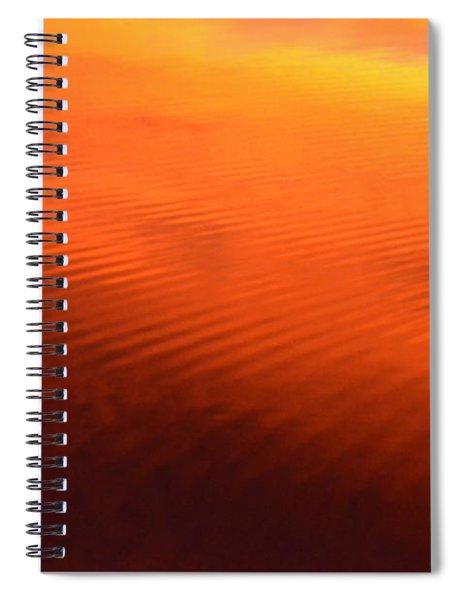 Splash Of Sunset  Spiral Notebook