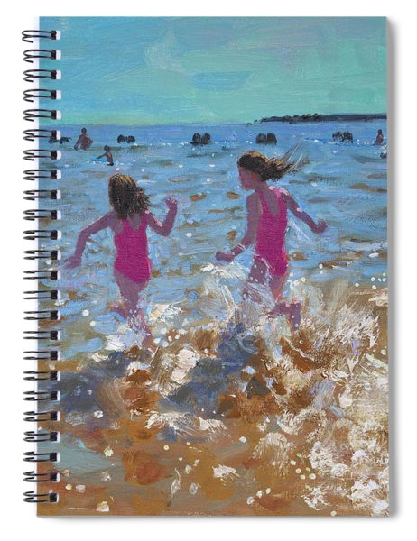 Splashing In The Sea Spiral Notebook by Andrew Macara