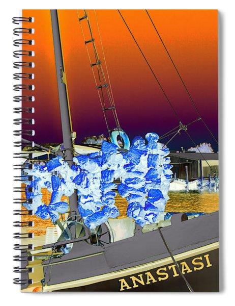 Sponge Boat Sabattier Spiral Notebook