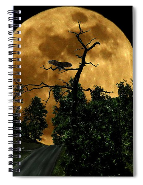 Spooky Road Spiral Notebook
