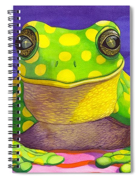 Spotted Frog Spiral Notebook