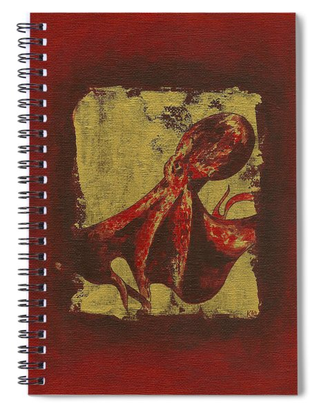 Spotted Red Octopus Spiral Notebook