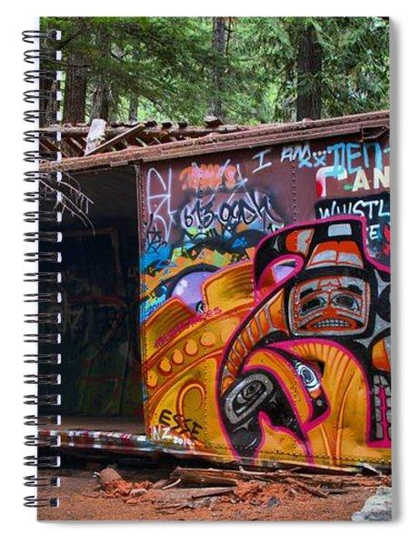 Spray Painted Box Car Train Wreck Spiral Notebook