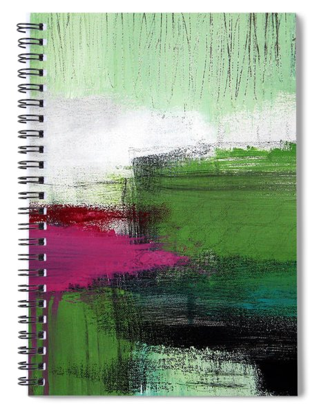 Spring Became Summer- Abstract Painting  Spiral Notebook