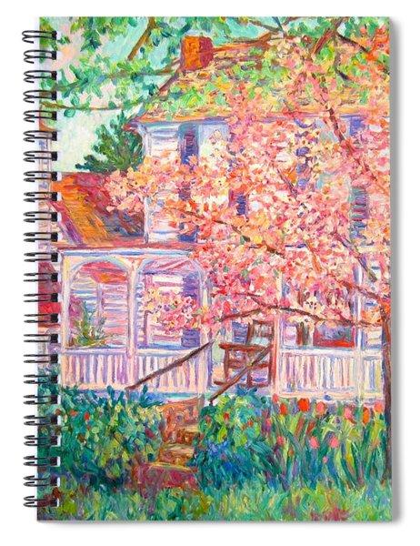 Spring Church Scene Spiral Notebook
