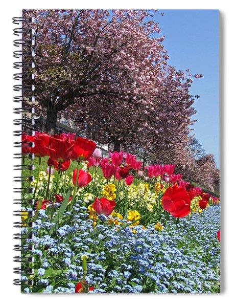 Spring Flowers - Edinburgh Spiral Notebook