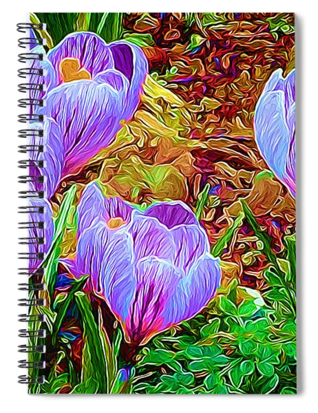 Spring Crocuses Spiral Notebook