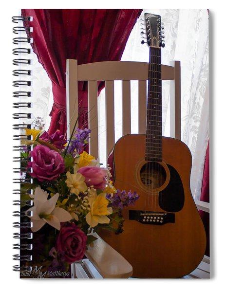Spring Guitar Spiral Notebook