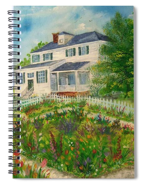 Spring In Colonial Williamsburg- Cole House Spiral Notebook