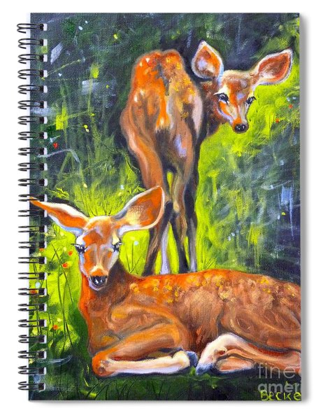 Spring Twins 1 Spiral Notebook