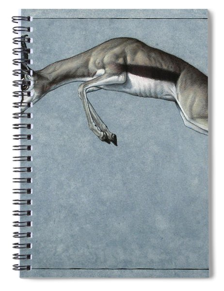 Spiral Notebook featuring the painting Springbok by James W Johnson