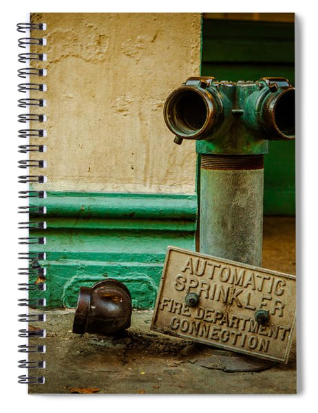 Sprinkler Green Spiral Notebook
