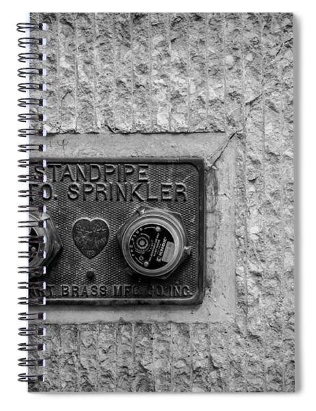 Sprinkler With A Heart Spiral Notebook