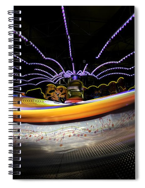 Spun Out 2 Spiral Notebook